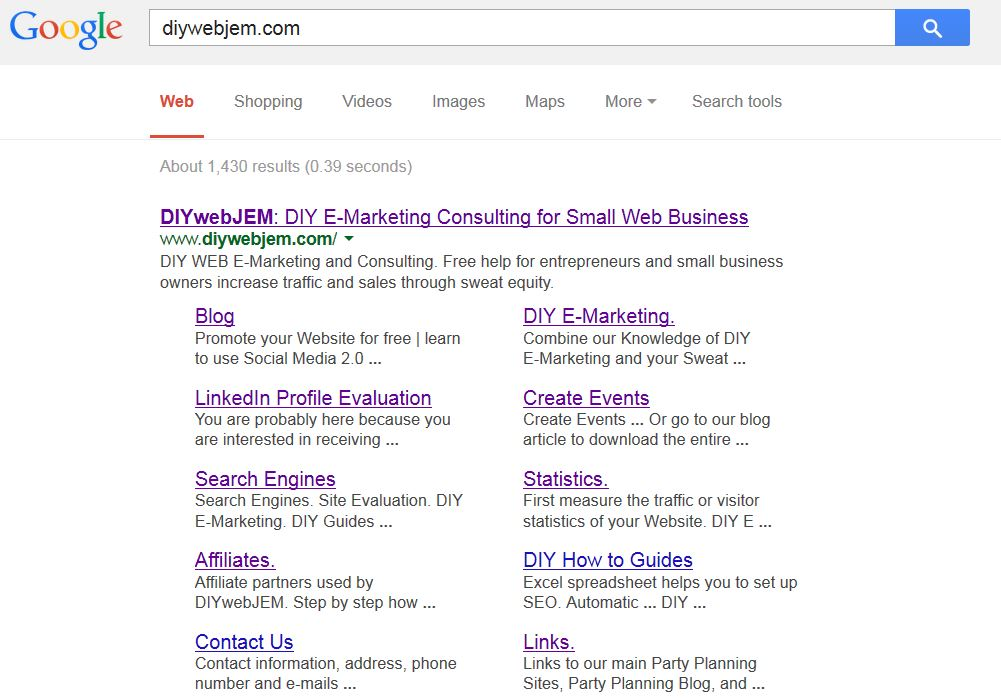 Google Search For DIYWebJem