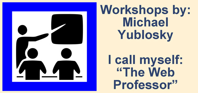 Chicago Area Workshops by Michael Yublosky