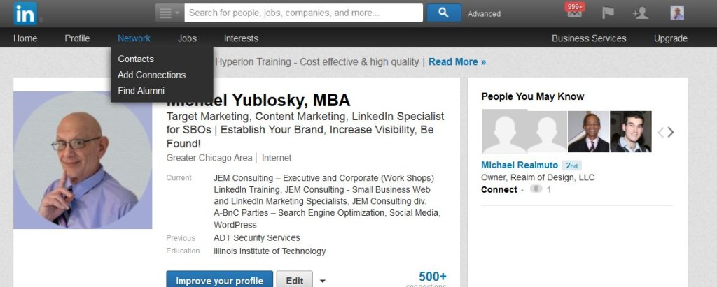 Import Emails Into LinkedIn Option 1