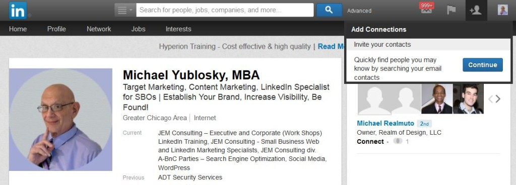Import Emails Into LinkedIn Option 02