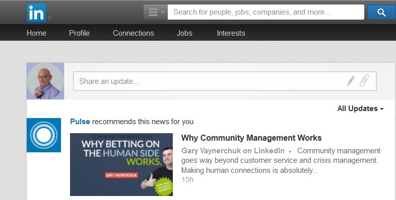 Write Articles On LinkedIn Through Your Share an update