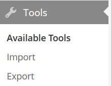 WordPress Export Tool In Admin Panel