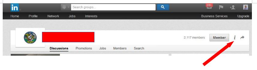 Example Of LinkedIn Groups Navigation