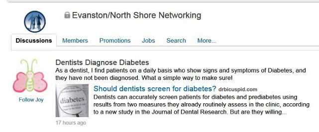 Dentist's Discussion on LinkedIn