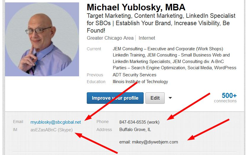 Is Your Contact Information On Your LinkedIn Profile