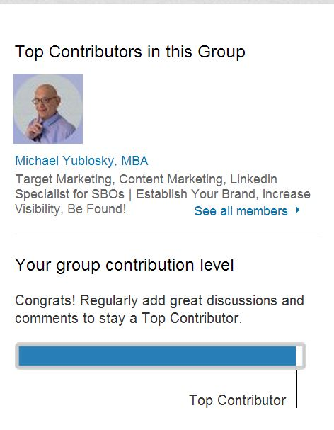 LinkedIn Activity With A Target Group